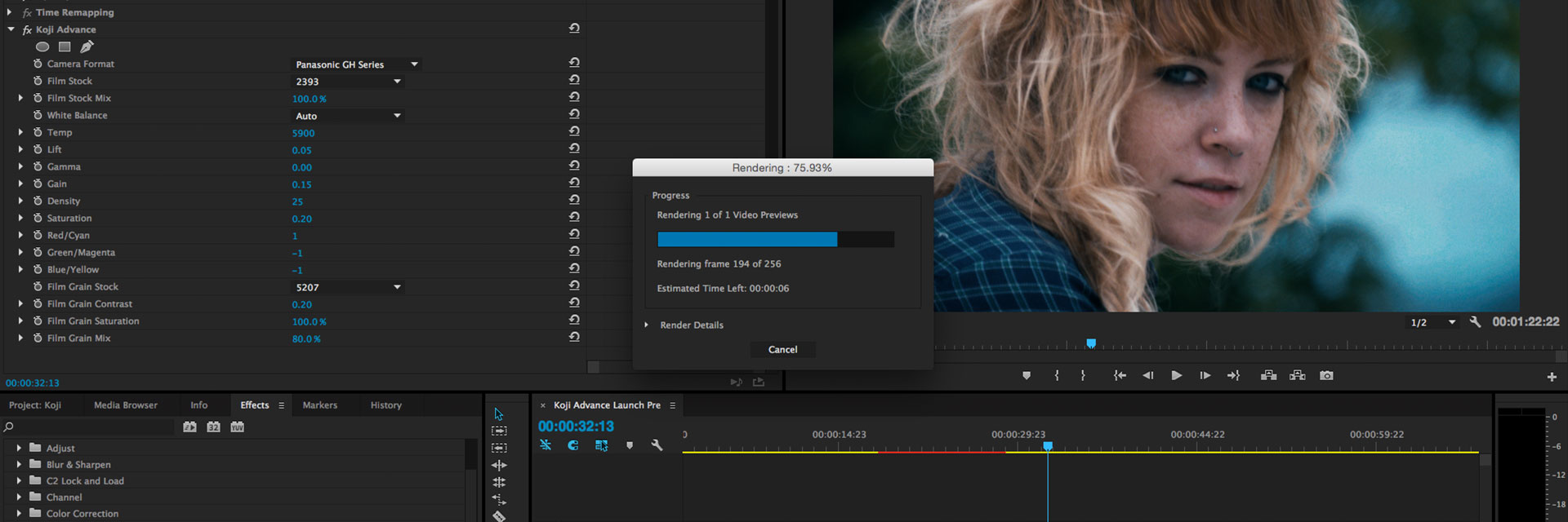 Film Emulation for Premiere, FCPX, After Effects | Koji Color