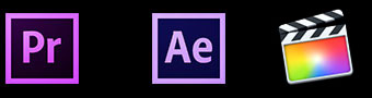 Koji ADV works with Adobe Premiere, After Effects and Final Cut Pro X
